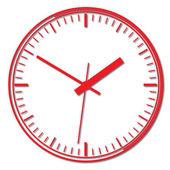 Reloj digital de pared. — Vector de stock