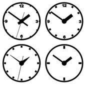 Väggmonterad digital klocka. — Stockvektor