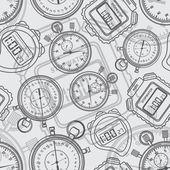 Stopwatch. Seamless. — Stock Vector