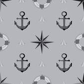 бесшовные текстуры. морская тема. — Cтоковый вектор
