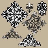 Kalligrafische ontwerpelementen. — Stockvector