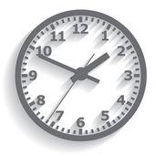 Wall mounted digital clock. Vector illustration. — Stock Vector