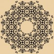 Beautiful lace pattern. The circular background. — Vettoriali Stock