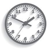 Reloj digital había montado en la pared. ilustración vectorial. — Vector de stock