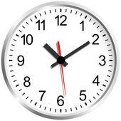 Murale horloge numérique. — Vecteur