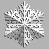 Ozdobny śnieżynka streszczenie. — Wektor stockowy
