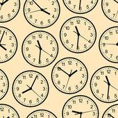 Wall clock. Seamless. — Stock Vector