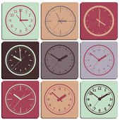 Reloj digital de pared. — Vector de stock