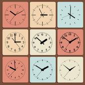 Orologio digitale a parete. — Vettoriale Stock