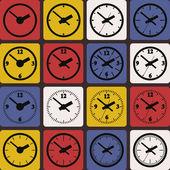 Wall mounted digital clock — Stock Vector