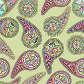 Bezešvé pattern asijské prvky paisley — Stock vektor