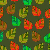 Background of leaves. Seamless vector illustration. — 图库矢量图片