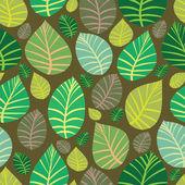 Background of leaves. Seamless vector illustration. — Vetor de Stock