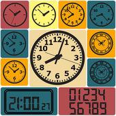 Parede relógio digital — Vetor de Stock