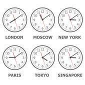 Wall mounted digital clock. — Stock Vector