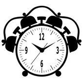 Old mechanical alarm clock. — Stock Vector