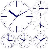 壁装的数字时钟. — 图库矢量图片