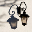 Old street lamp with modern electric bulb — Stock Photo #10774925