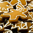 Closeup of gingerbread cookies — Stock Photo