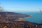 Vista do lago balaton — Fotografia Stock