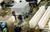 Detail of a motherboard — Foto Stock