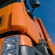 Stock Photo: Front of lorry with blue sky