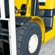 Front of a forklift — Stock Photo