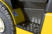 Footstep of a forklift — Stock Photo