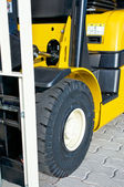 Front of a forklift — Stockfoto