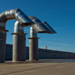 Air pipes on a roof — Stock Photo
