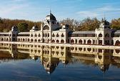 Byggnaden av ishallen i budapest — Stockfoto