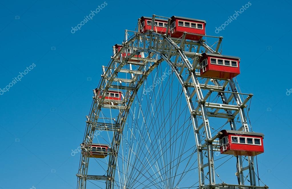 The Ferris Wheel of Prater, Vienna in the Minimundus in Klagenfurt, Austria — Stock Photo #12840520