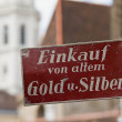 Old sign in Vienna — Stock Photo