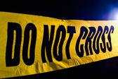 Cena do crime — Foto Stock