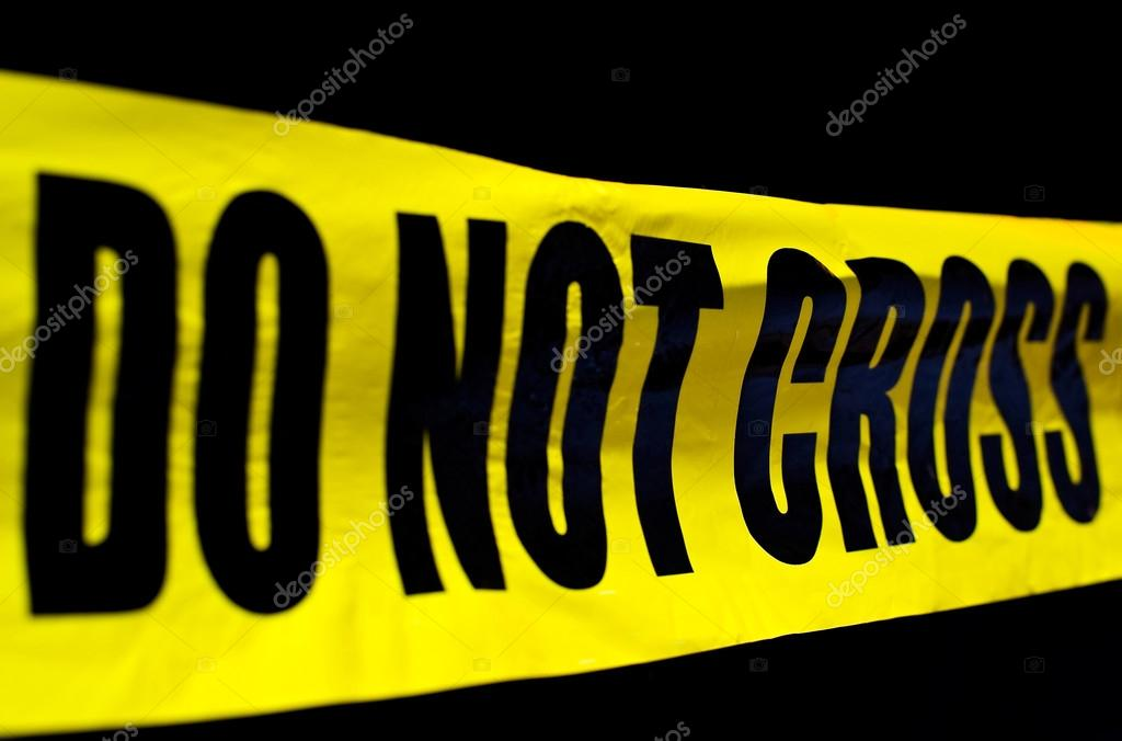 Crime scene police line do not cross — Stock Photo #12952789