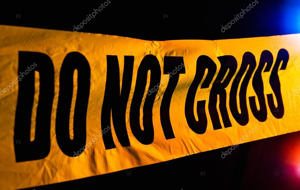 Crime scene police line do not cross — Stock Photo #12953010
