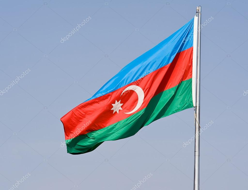 The flag of Azerbaijan — Stock Photo #14682529
