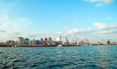 View of Baku from sea — Foto Stock