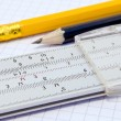 Slide rule - Stock Photo