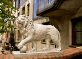 Lion of the Hunderwasser House — Stock Photo