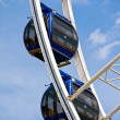 Detail of a modern ferris wheel — Stock Photo