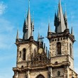 Tyn church in Prague — Stok fotoğraf