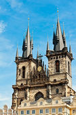 Tyn church in Prague — Stock Photo
