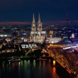 Cologne by night — Stok fotoğraf