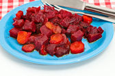 Dressing of beet and carrot — Stock Photo