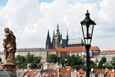 View to the Castle in Prague — Stok fotoğraf
