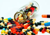 Fall out capsules — Stock Photo