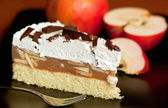 Apple and cheese cake — Stock Photo