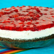 Foto Stock: Cheese cake with fruits