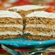 Foto de Stock  : Nutty cake with sour creme